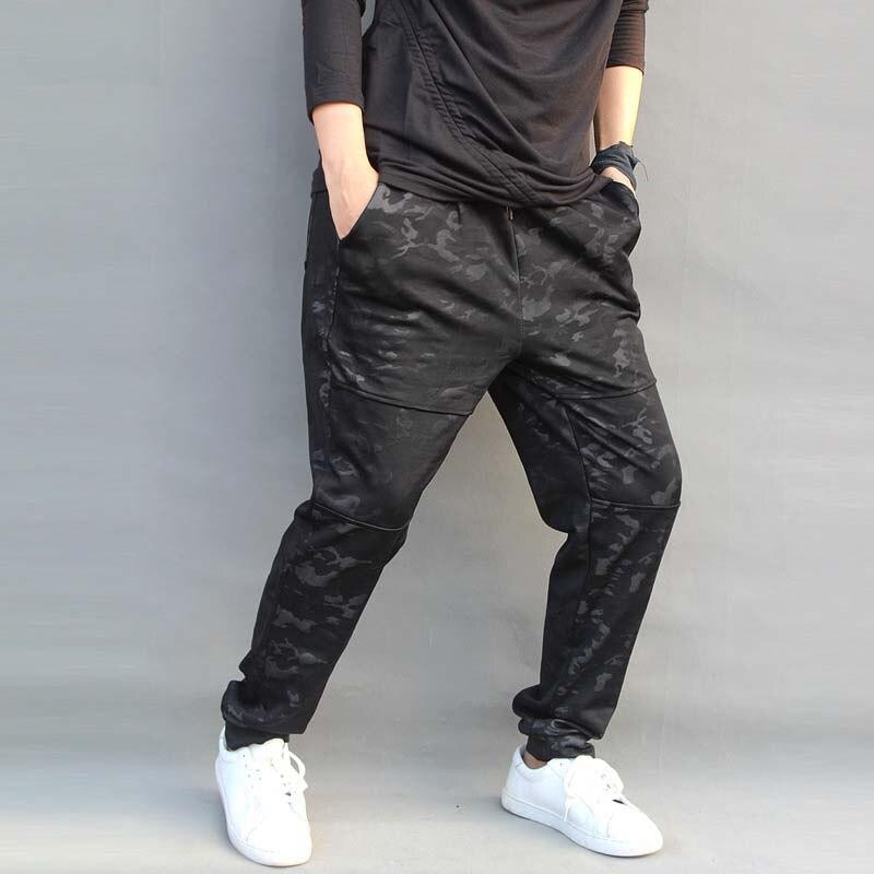 Qualité pantalon décontracté homme Harem Joggers noir Camouflage coton Stretch pantalons de survêtement pantalons hommes bas grande taille 4XL 5XL 6XL