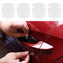 4 pcs/lot Universal Invisible Car door Handle Stickers Car Sticker Protection Protector Film Scratches Resistant Cover #iCarmo