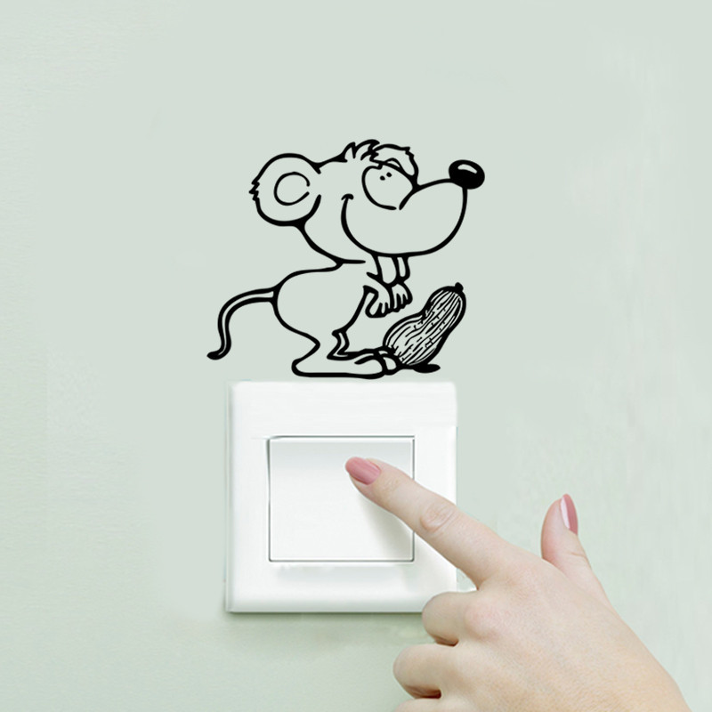 DIY Funny Cute Black Cat Dog Rat Mouse Animls Switch Decal Wall Stickers DIY Funny Cute Black Cat Dog Rat Mouse Animls Switch Decal Wall Stickers HTB1neEBJXXXXXX9apXXq6xXFXXXE