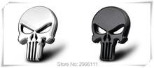 Car Styling 3D Metal The Punisher Skull Emblem Badge for KIA sportage rio sorento cerato k2 k3 Soul ceed k5 Forte