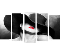 5 piece canvas art posters and prints Marilyn Monroe Sexy lips beauty home decor frames wall art Modular wall paintings