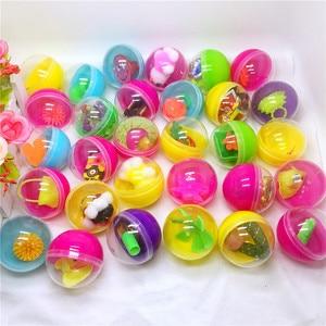 Пластиковые цветные шарики диаметром 10 шт./лот 45 мм, капсулы с различными маленькими игрушками, случайная смесь для вендингового автомата