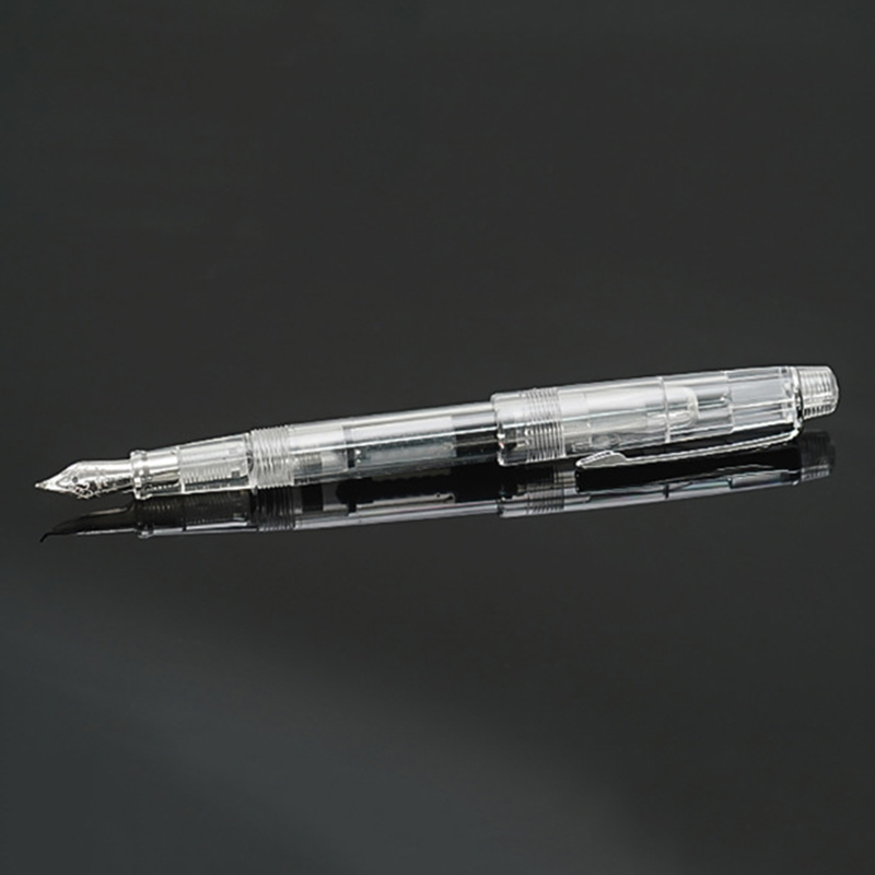 Cute Transparent Fountain Pen 0 5mm Calligraphy Pen Curved Nib Pen for Writing Office School Supplies Student Gift Stationery in Fountain Pens from Office School Supplies