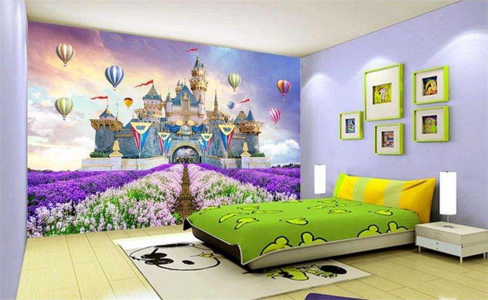 Home Improvement Independent Custom Mural Wallpaper 3d Photo Wallpaper Kids Room Fairy Tale World Rainbow Kingdom Painting Sofa Tv Background Non-woven Mural
