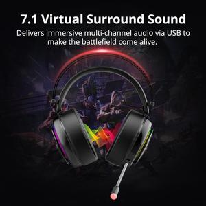 Image 2 - Oryginalny Tronsmart Glary przewodowy zestaw słuchawkowy do gier 7.1 z światło RGB USB dla xbox one/PS4/pc/komputer z mikrofonem zestaw słuchawkowy gamer