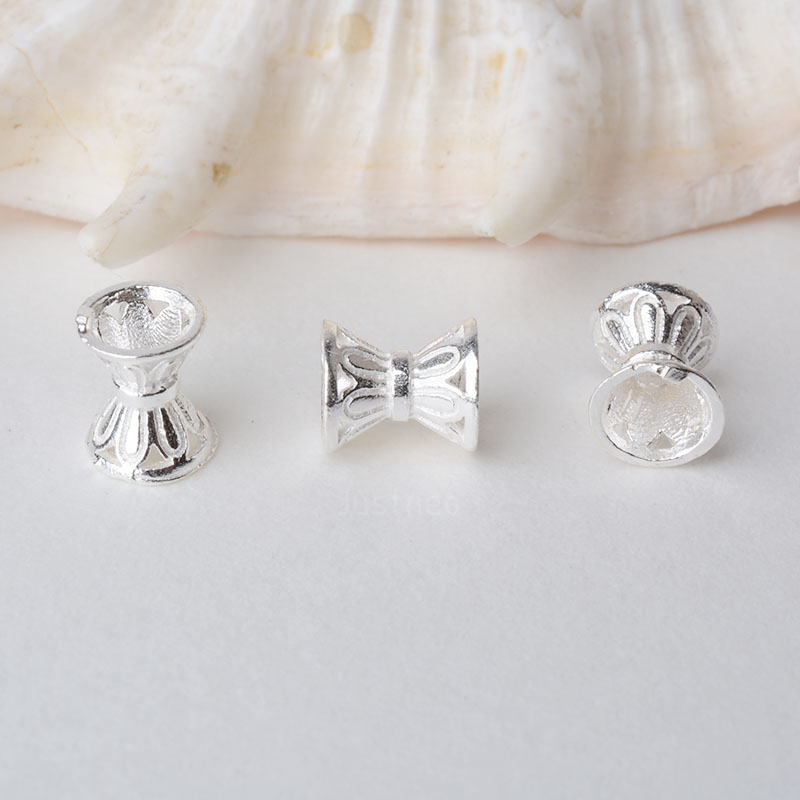 Solid 925 Sterling Silver Beads,spacer Charm Bead With 1.9mm Hole Jewelry Diy Components Accessories