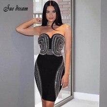 Frauen Sexy 2019 Neue Mode Elegante Luxus Perlen Verziert Sexy Liebsten  Mini frauen Großhandel Promi Verband 8a8faee978