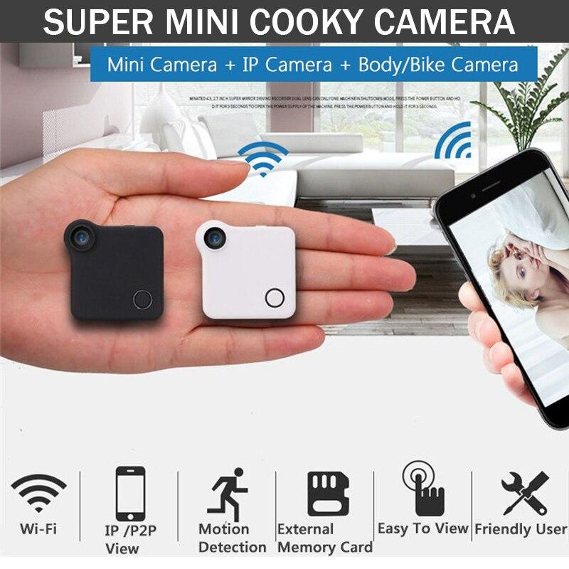 Cooky Mini Camera HD 720P C1 WIFI P2P Wearable IP Camera Motion Sensor Bike Body Micro Mini DV DVR Magnetic Clip Voice Recorder c1 mini web camera wifi p2p ip dv video sound recorder multi portable hd 720p h 264 micro dvr action motion detection flexible