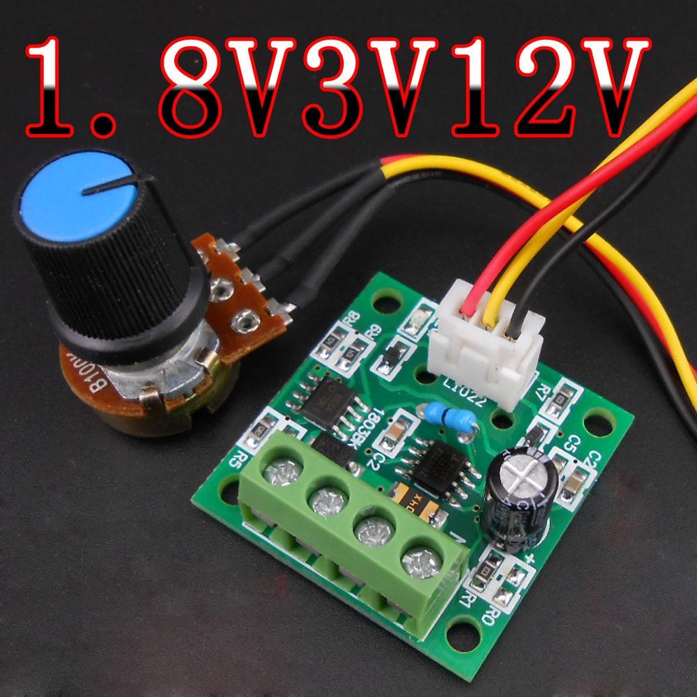 Mini DC PWM Brush Motor Speed Controller 3V//5V//12V//24V 6A Speed Control Switch