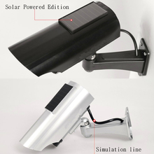 Solar Powered Outdoor CCTV Home Security Decoy Fake Dummy Camera Met Knipperende Infrarood Led verlichting Video Bewakingscameras