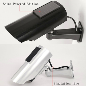 Image 1 - Solar Powered Outdoor CCTV Home Security Decoy Fake Dummy Camera Met Knipperende Infrarood Led verlichting Video Bewakingscameras