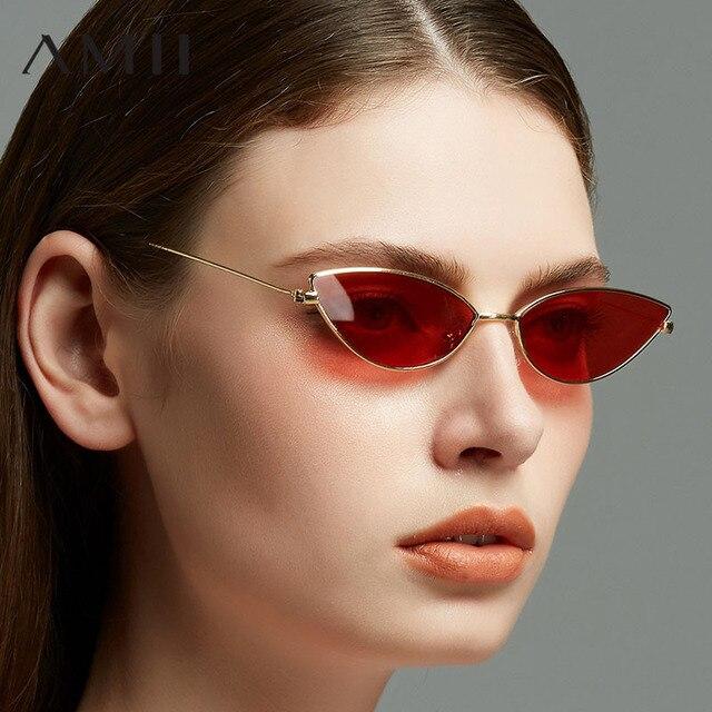 18f8d73596 New Women Cat Eye Sunglasses Classic Oval Ocean Lens Sun Glasses 2018 Retro  Small Round Metal Frame Eyewear UV400