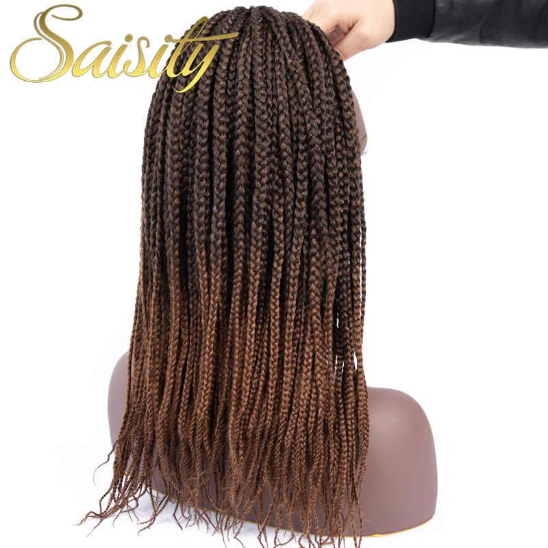 Saisity Box Braid Hair Ombre  Synthetic Braiding Hair Crotchet Hair Bulk Braids Micro Extensions Crochet Hair