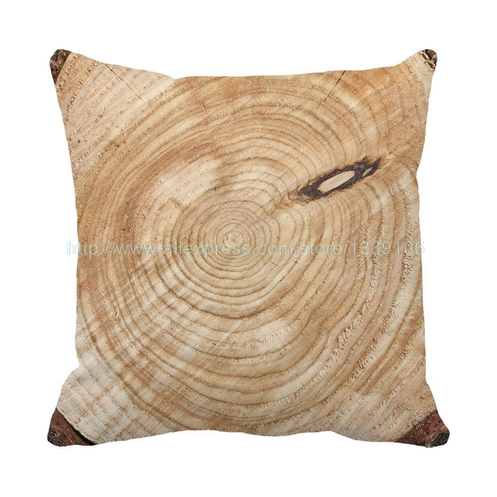 Personalized Custom Tree Root Print Brown Accent Sofa Chair Cushions Home Decor Design Throw Pillow Cojin Decorative Pillows
