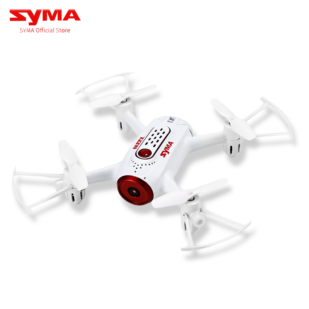 Syma X22W Wifi FPV Pocket RC Drone HD Camera FPV Wifi Headless Mode RC Toys Flight And Plan App Control White Quadcopter Gifts syma x15w drone with 0 3mp camera wifi fpv rc quadcopter g sensor barometer set height headless mode 3d flips app control drone