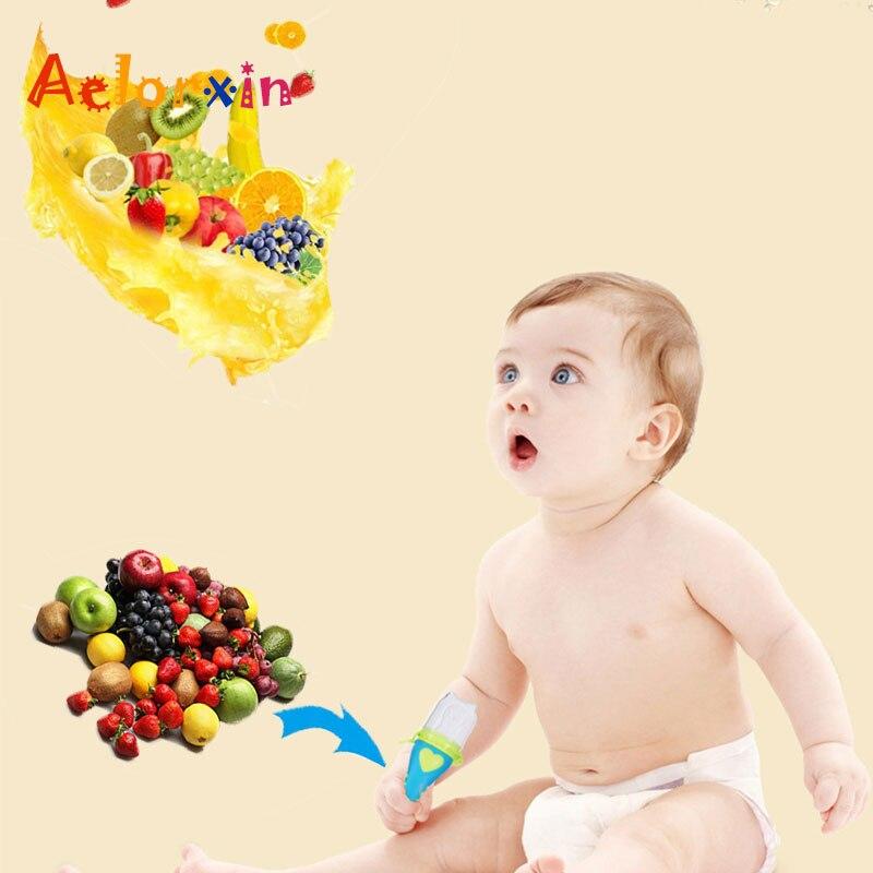 2018 Baby Pacifier Nipple Infant Fresh Food Milk Nibbler Feeder Newborn Feeding Tool Safe Vegetable Chew Supplies Bags Holder Nibbler