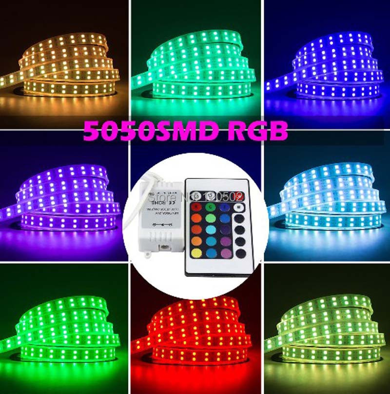 5050 waterproof rgb 5m 600 led double row 5050 waterproof rgb led strip 600leds 120leds m. Black Bedroom Furniture Sets. Home Design Ideas