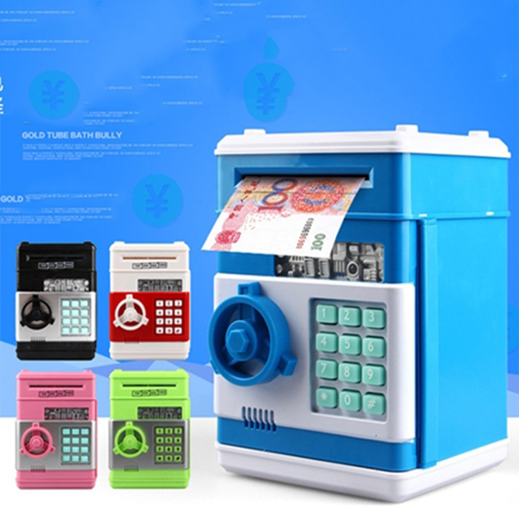 Kids Cartoon Electronic Money Bank Security Piggy Bank Mini ATM Password Coins Money Savings Box Smart Voice Toys