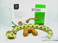 [Funny] simulation electric pets Remote Control music sound & light rattlesnake toy RC Snake model Tricky Prank Scary Toy gift