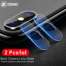 ESVNE 2pcs/Lot HD Glass For Apple iphone X Back Camera Lens Screen Protector Tempered Film