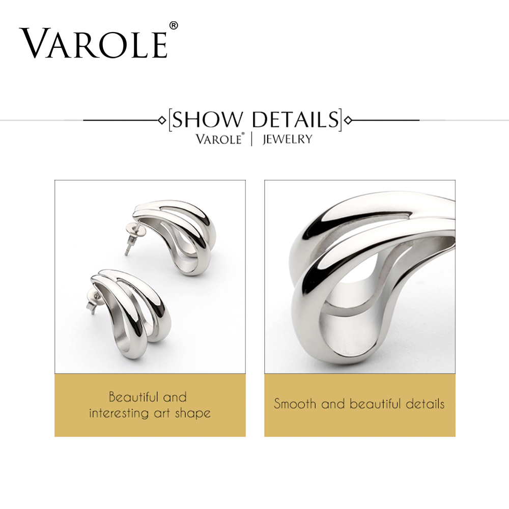 VAROLE Silver Color Earrings For Women New Arrival Drop Long Big Earring 2018 Fashion Jewelry Wholesale DropShip