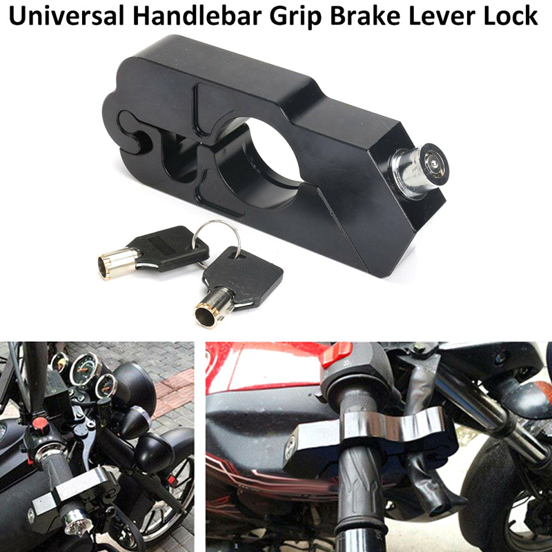 Motorcycle Handlebar Lock Brake Lever Grip Security Safety Anit-Theft Protection NJ88