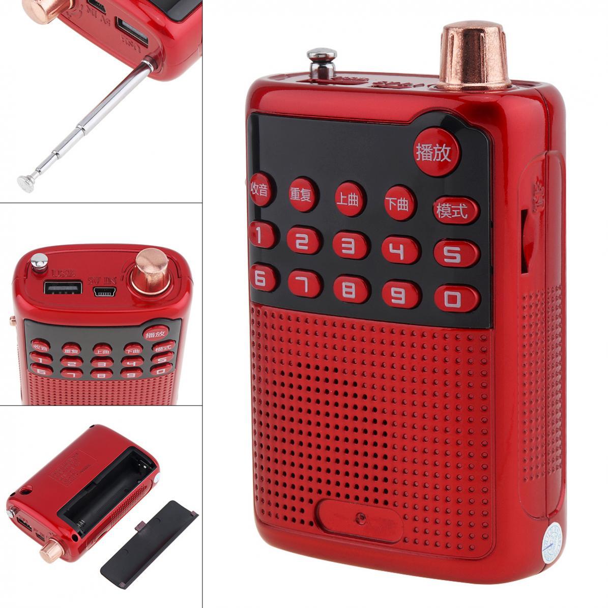 E55 Tragbare Radio Mini Audio Karte Lautsprecher Fm Radio Mit 3,5mm Kopfhörer Jack Für Outdoor/home Radio Unterhaltungselektronik