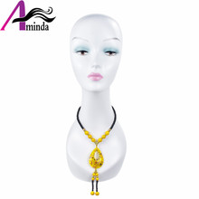 Plastic Making Mannequin Head Afro Makeup Model With Long Neck For wigs hat display