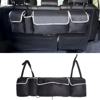 Universal 2 in 1 Trunk Back Seat Organizer Large Capacity Storage Bag Extra Long