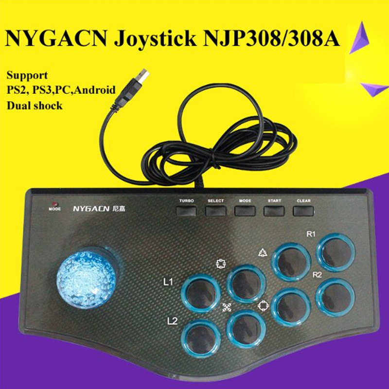 USB wired controller Joystick for ps2 ps3 pc Android game controller game joystick with sucker new arrival dilong pu305 usb wired pc game pad shocks joystick black 170cm cable