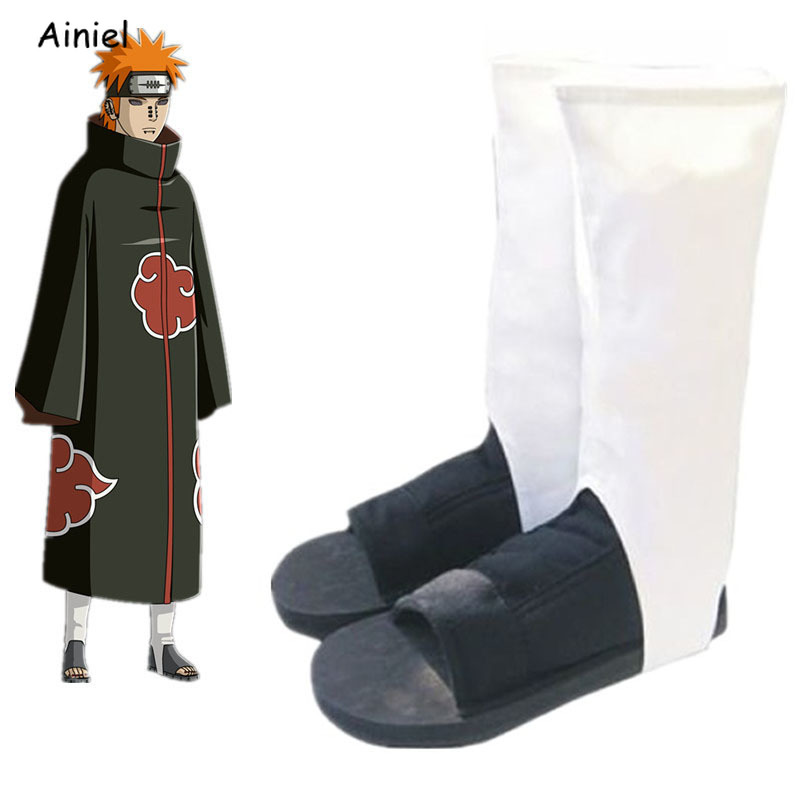 Naruto Cosplay Shoes- Akatsuki Nanja Cos Shoes Women Men Cosplay Costume Christmas Halloween Party Sandals Boots Women Men Kids