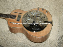 Custom Shop Dobro Electric Guitar Natural wooden High Quality Wholesale Guitars(China)