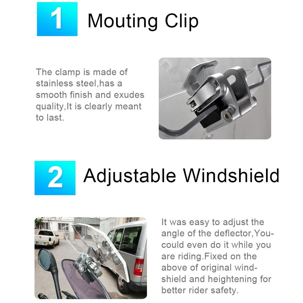 Image 4 - Wind Deflector Viento Moto Universal Windshield Motorcycle Windscreen Extension for Triumph Honda Kawasaki Suzuki Benelli Yamaha-in Windscreens & Wind Deflectors from Automobiles & Motorcycles