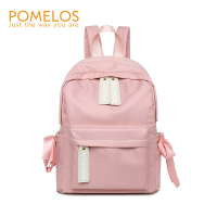 POMELOS Women Preppy Style Students Backpack Ladies Fashion Bow Back Pack Bag Rucksack Female Waterproof Oxford