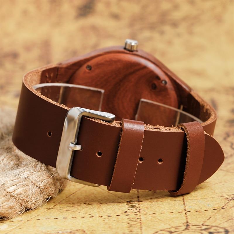 2017 Natrual Drewniany zegarek na rękę Analogowy zegar męski - Męskie zegarki - Zdjęcie 4