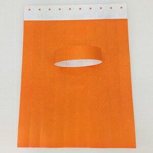 Image 3 - 1000pcs 일회용 다른 색상 사용 가능한 종이 손목 밴드, 이벤트 팔찌, 파티 tyvek 밴드 tyvek 종이 팔찌