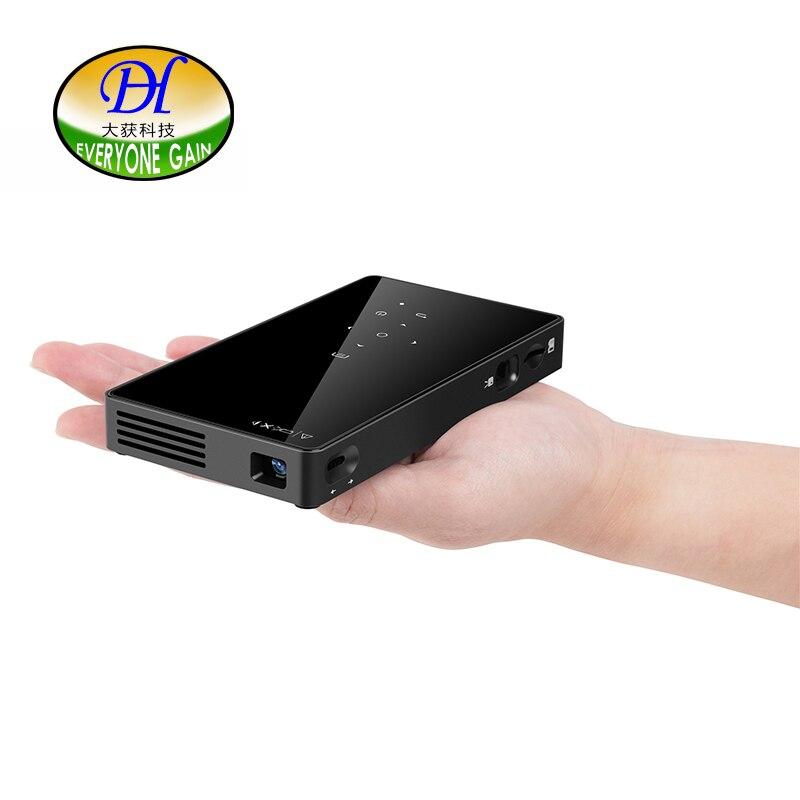Tout le monde gagne T18 Portable Mini projecteur LED full hd Wifi projecteur Home cinéma projecteurs DLP 1080 P 3D projecteur Android 1G + 8G