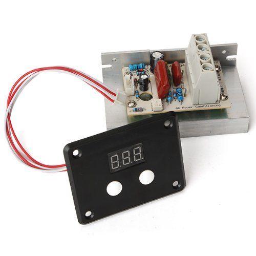 AC 220V 10000W SCR Voltage Regulator Speed Control Dimmer Thermostat LED Display 2 w p w v p10000 10000 waka ddc12