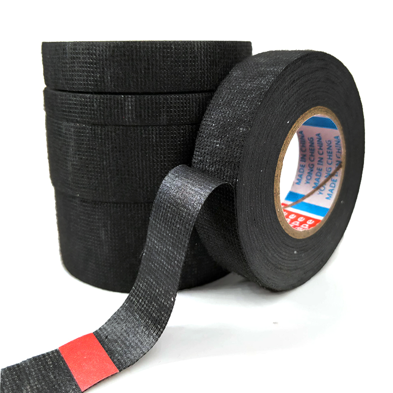 1 PC 15M Heat-resistant Wiring Harness Tape Looms Wiring Harness Cloth Fabric Tape Adhesive Cable Protection 9/15/19/25/32 Mm