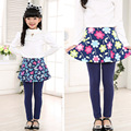 Nuevo llega la primavera otoño polainas de las muchachas niños de la falda de chindren pantalones de las polainas de la falda pantalón Cake pantalones para 3 - 11 T SCA2307