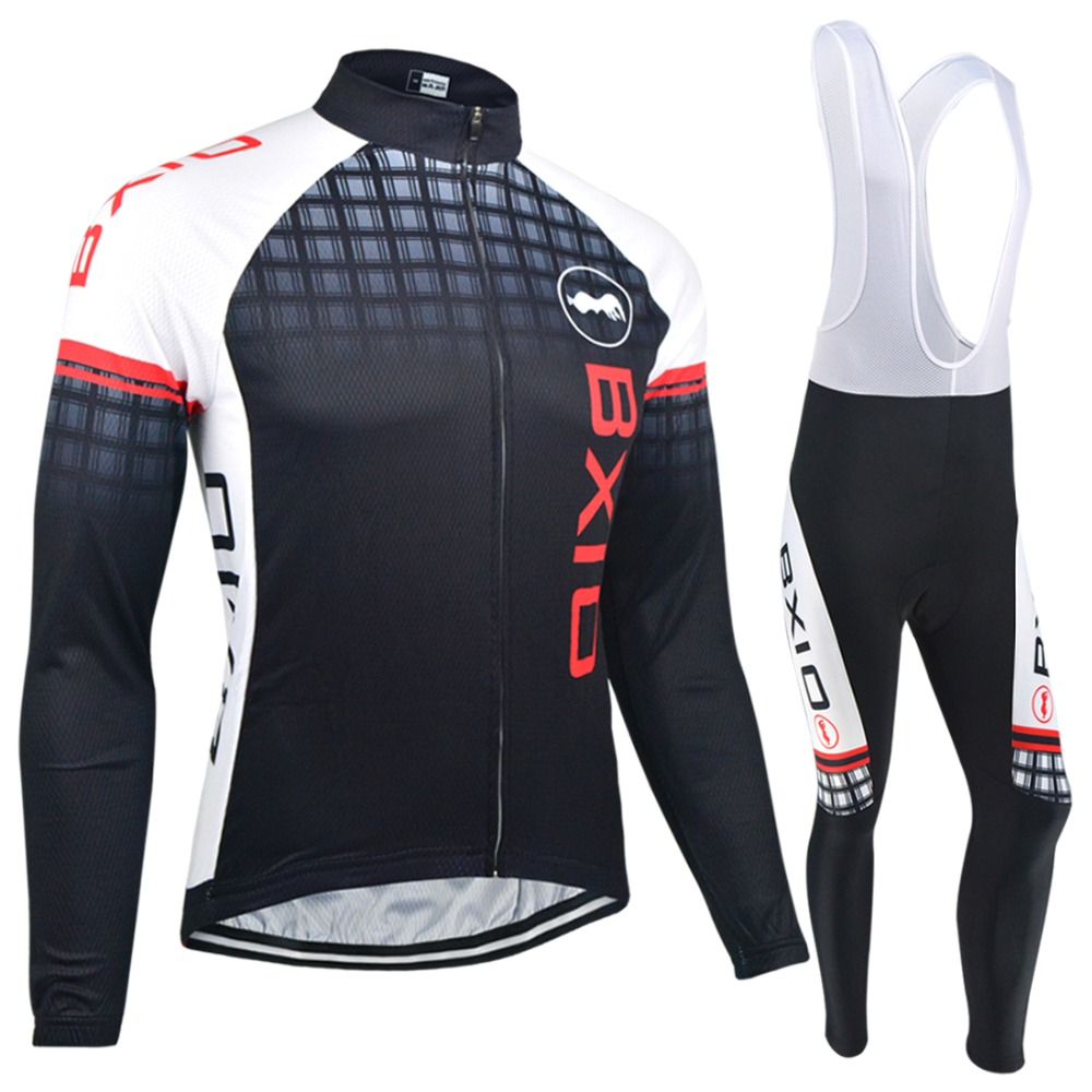 Bxio Winter Thermal Fleece Cycling Jerseys Long Sets Super Warm Bike Clothing Black Bicycle Jersey Ropa Ciclismo Invierno 012 men thermal long sleeve cycling sets cycling jackets outdoor warm sport bicycle bike jersey clothes ropa ciclismo 4 size