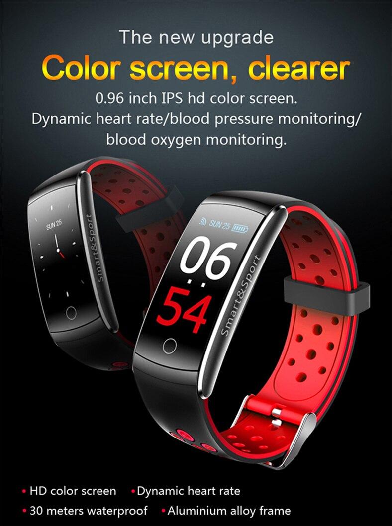 Pulseira inteligente q8s freqüência cardíaca banda inteligente