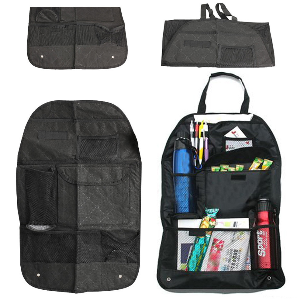 Car Auto Seat Back Bag Organizer Holder Multi-Pocket Travel Storage Hanging Bag Pocket Storage Bag Vehicle Car Seat Hanging Bag 13