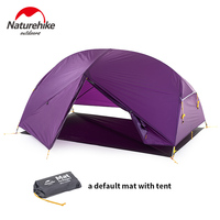 Naturehike Mongar 3 Season Camping Tent 20D Nylon Fabic Double Layer Waterproof Tent For 2 Persons