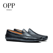 OPP Men's Leather Loafers Fashion Casual Flats Comfortable Shoes Slip-On with Sequined Silver gray / Black Purple /  Bronze