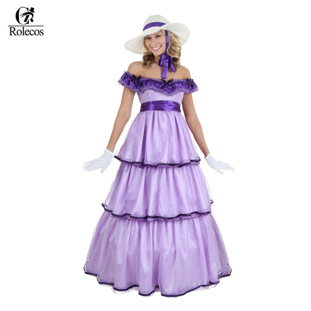 Rolecos Brand Vintage Renaissance Medieval Long Dress Ball Gown ...