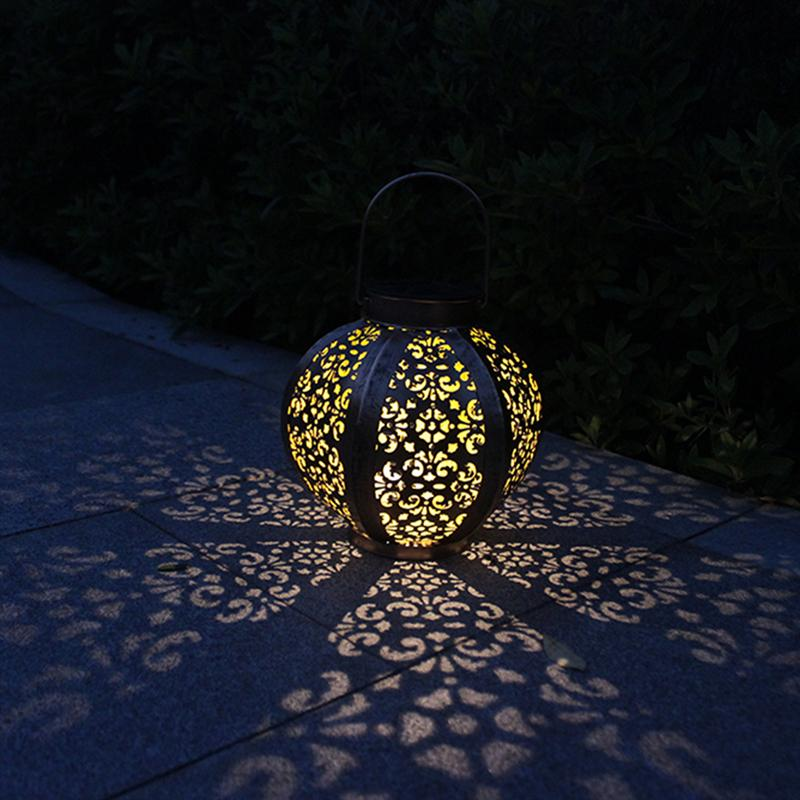 Hexagon LED Solar Lantern Lights Outdoor Pathway Hanging Solar Light Bulb for Patio Courtyard Garden vintage led solar lantern lights outdoor hanging light candle lantern solar powered garden lamp for garden lawn patio