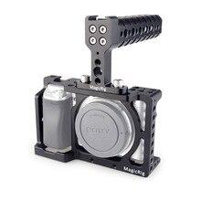 MAGICRIG DSLR Cage Fotocamera con Maniglia Superiore per Sony A6400/A6000/A6300/A6500 Macchina Fotografica per Montaggio del Microfono monitor Flash