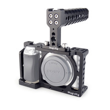 MAGICRIG DSLR Camera Cage with Top Handle for Sony A6400/ A6000/ A6300/ A6500 Camera to Mount Microphone Monitor Flash