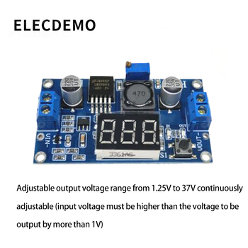 цена на New DC-DC adjustable power supply module LM2596 voltage regulator module with voltmeter display function demo board